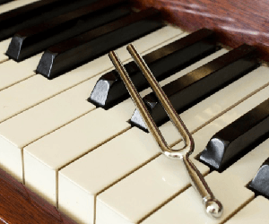 tuning fork on piano