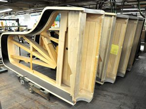 piano frames made of wood
