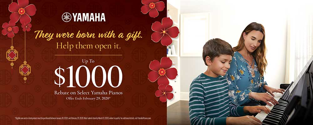 Yamaha Announces New Piano Rebate Program!
