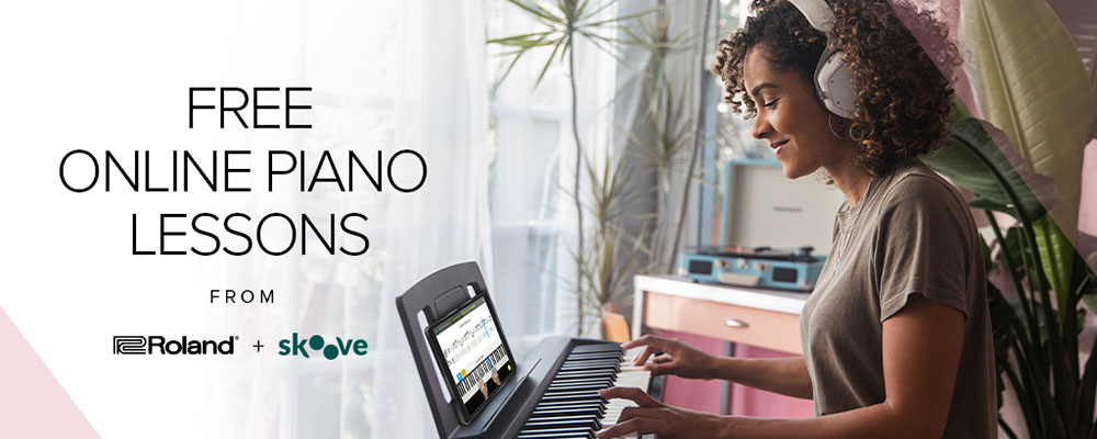 FREE Online Piano Lessons from Roland!