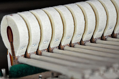 piano hammers with t-fasteners