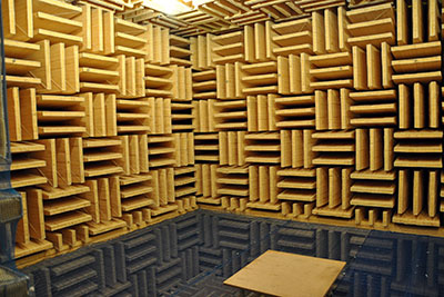 anechoic chamber at Roland
