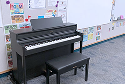 Roland HP-704 in classroom